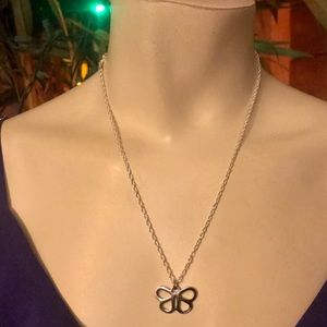 "Coach Butterfly .925 Sterling Silver 18"" Necklace"